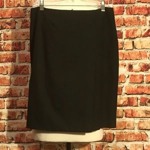 Brooks Brothers Charcoal Gray Pencil Skirt